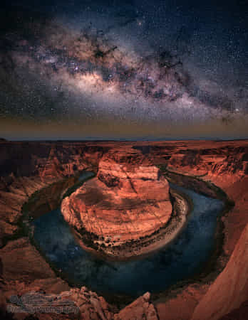 Horseshoe bend with milkyway by William Freebilly photography ✅