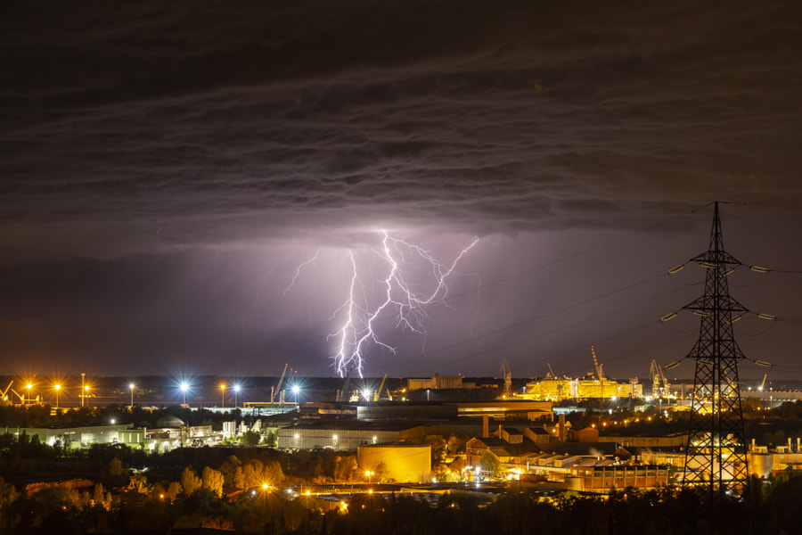Monfalcone Lightning Night by Jure Batagelj on 500px.com