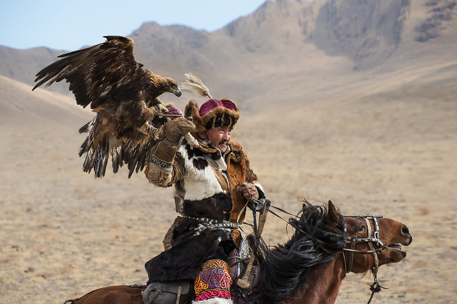 Kazakh eagle hunter by Stefan Cruysberghs on 500px.com