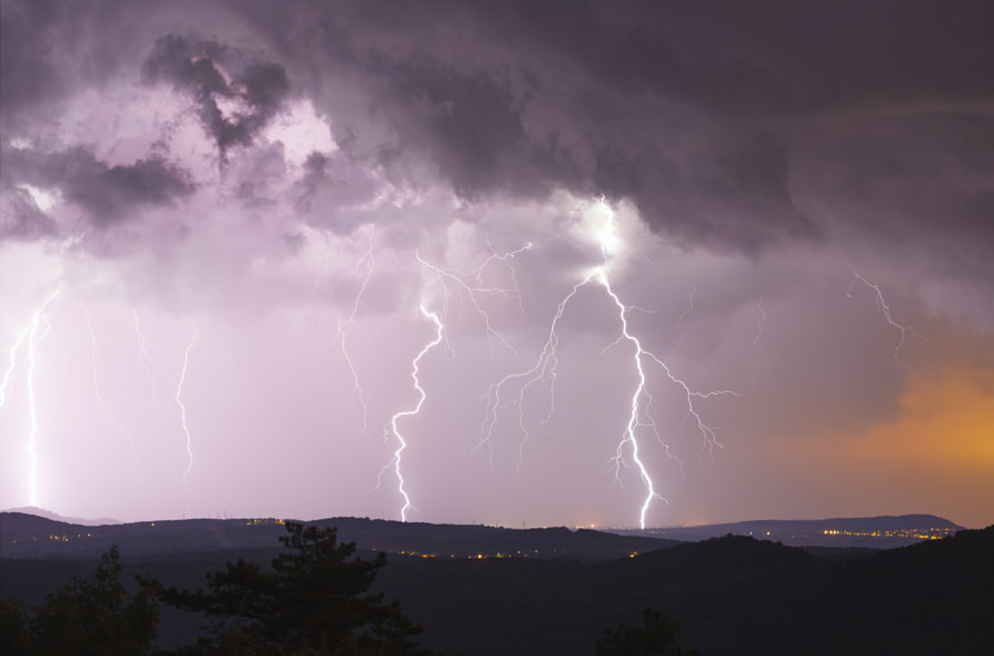 Lightning Over Forest of Karst by Jure Batagelj on 500px.com