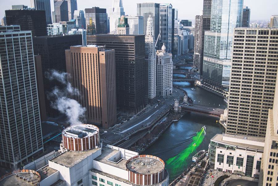 Chicago St. Patrick's Day by Kyle Buckland on 500px.com