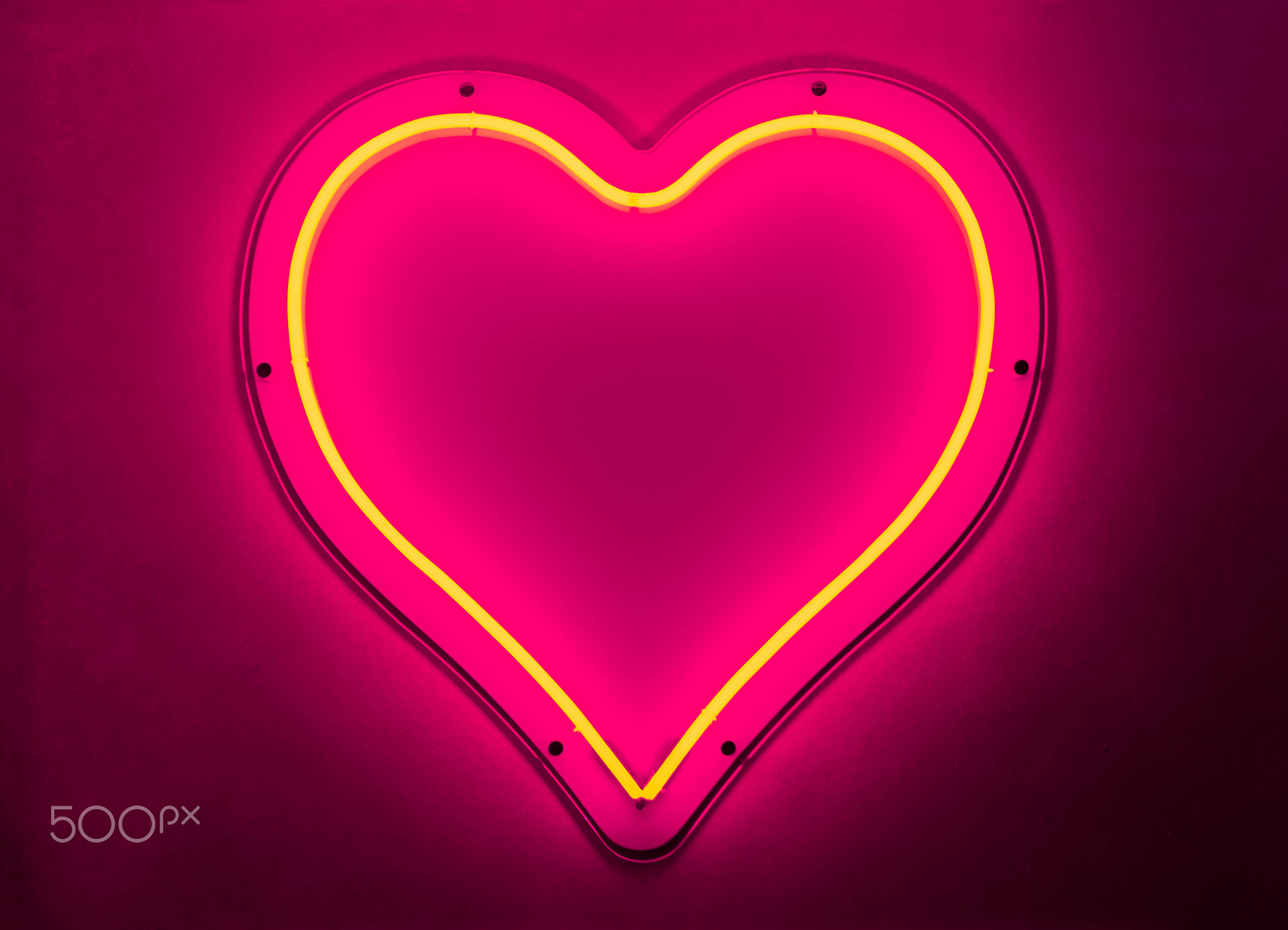 Neon Heart Strong Glow PINK