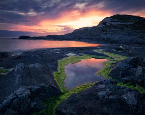 Granavika sunset by Jan Kaldestad