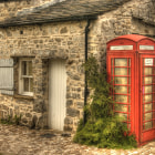 Постер, плакат: Phone Home Phone booth at Arncliffe Painterly