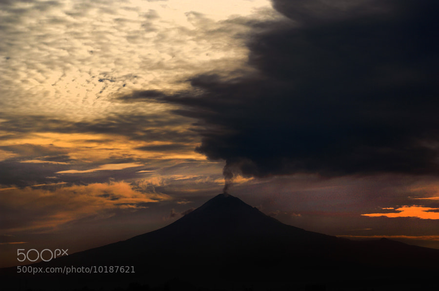 Photograph Smoking volcano and clouds by Cristobal Garciaferro Rubio on 500px