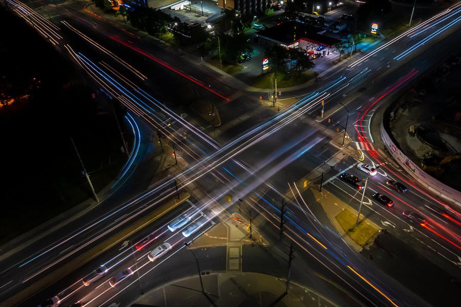 Traffic Trails by Edward Han  on 500px.com