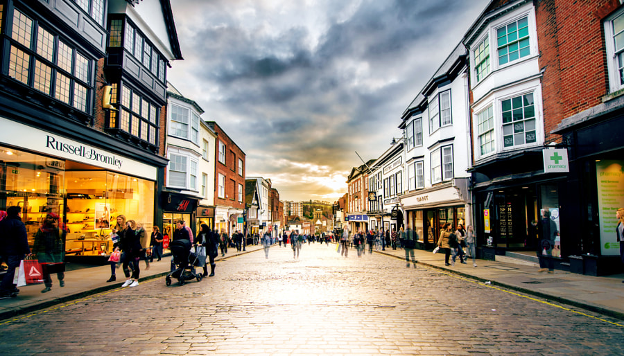 Photograph Sunday afternoon, High street, Guildford by PM Photography on 500px
