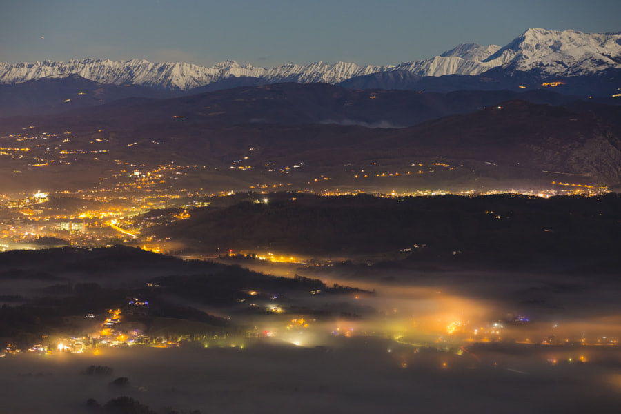 Winter Fog Valley with Julian Alps by Jure Batagelj on 500px.com