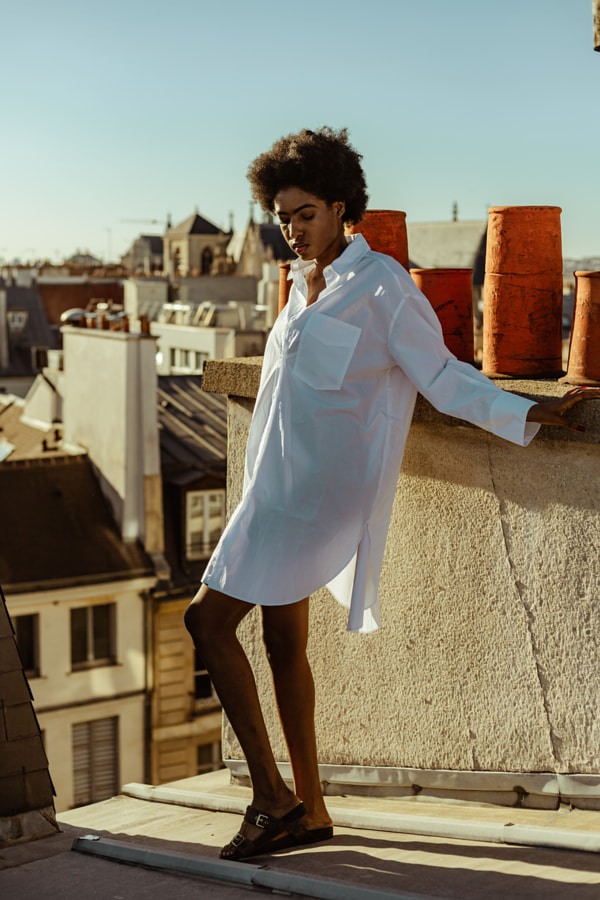 Young woman on the Parisians roofs by Estelle Couturier on 500px.com