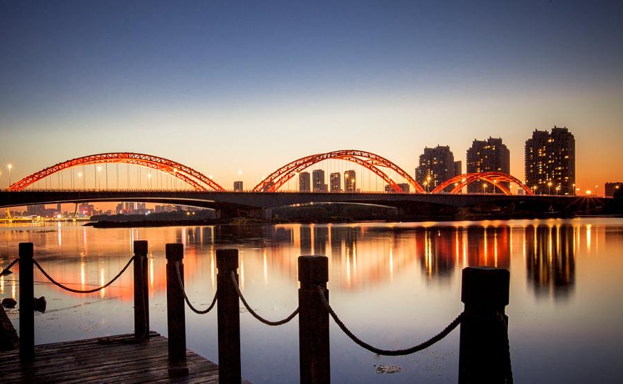 桥·夜 by 闲的  on 500px.com