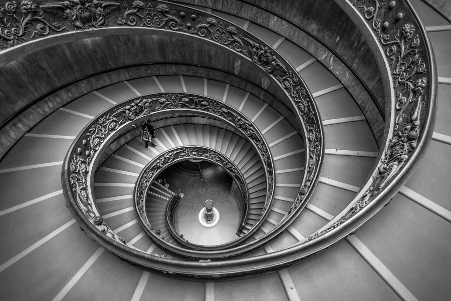 Vatican Spiral Staircase, Rome, Italy