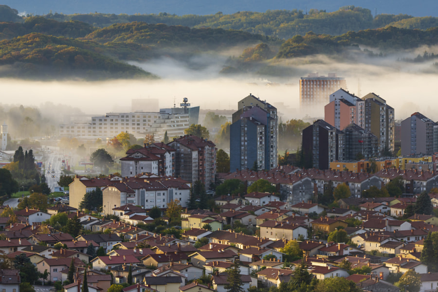 Morning Fog Buildings by Jure Batagelj on 500px.com