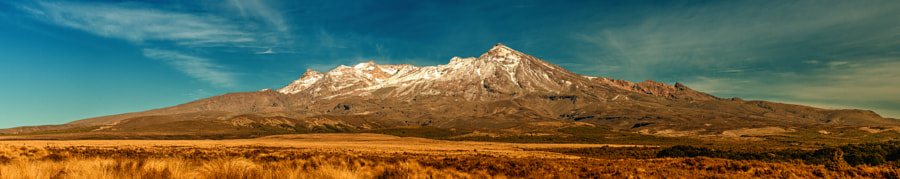 Photograph Mount Ruapehu from the Desert Road by Jiri George Dolejs on 500px