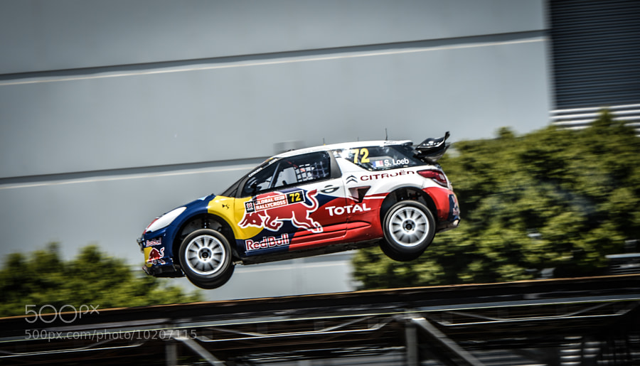 Photograph Sebastien Loeb in his Citroen DS3 at Global Rallycross at X-Games by Alex Huff on 500px