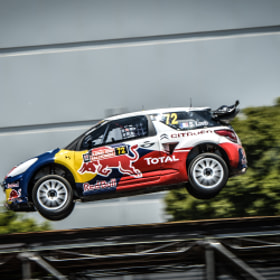 Sebastien Loeb in his Citroen DS3 at Global Rallycross at X-Games by Alex Huff (2pnt0)) on 500px.com