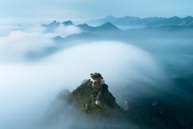 箭扣的婚紗2 Tulle of the Great Wall by Michael SONG - 丨Vanechow Blog a No.1from shop.vanechow.com