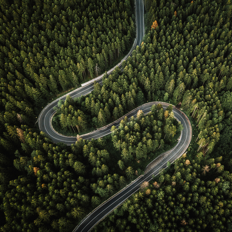Curvy road by Szabo  Ervin-Edward on 500px.com