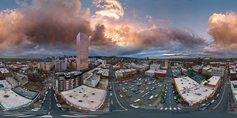 Outstanding - Portland at dusk aerial shot by William Freebilly photography ✅ - 丨Vanechow Blog a No.1from shop.vanechow.com