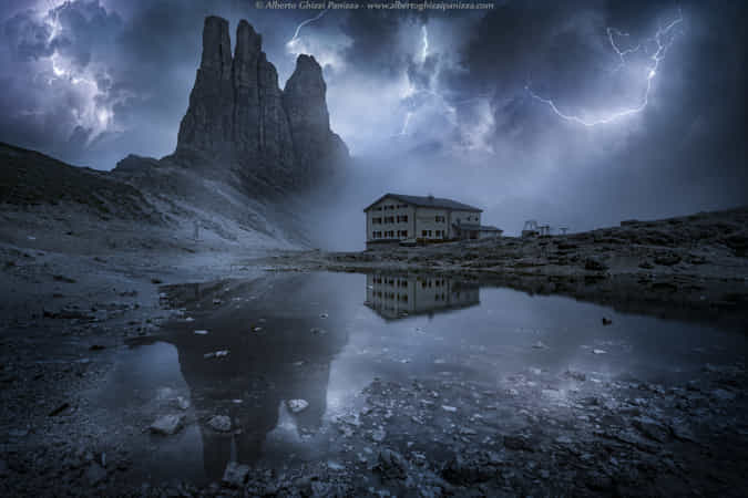 Thunderstorm in the Dolomites by Alberto Ghizzi Panizza - 丨Vanechow Blog a No.1from shop.vanechow.com