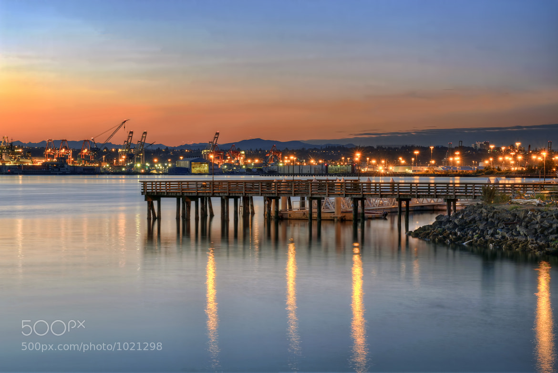 Photograph seacrest park pier at alki beach seattle for Seattle fishing pier