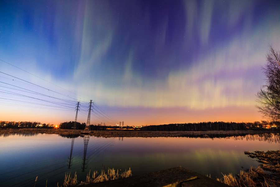 Northern Lights at Suomenoja by Sami Multasuo on 500px.com