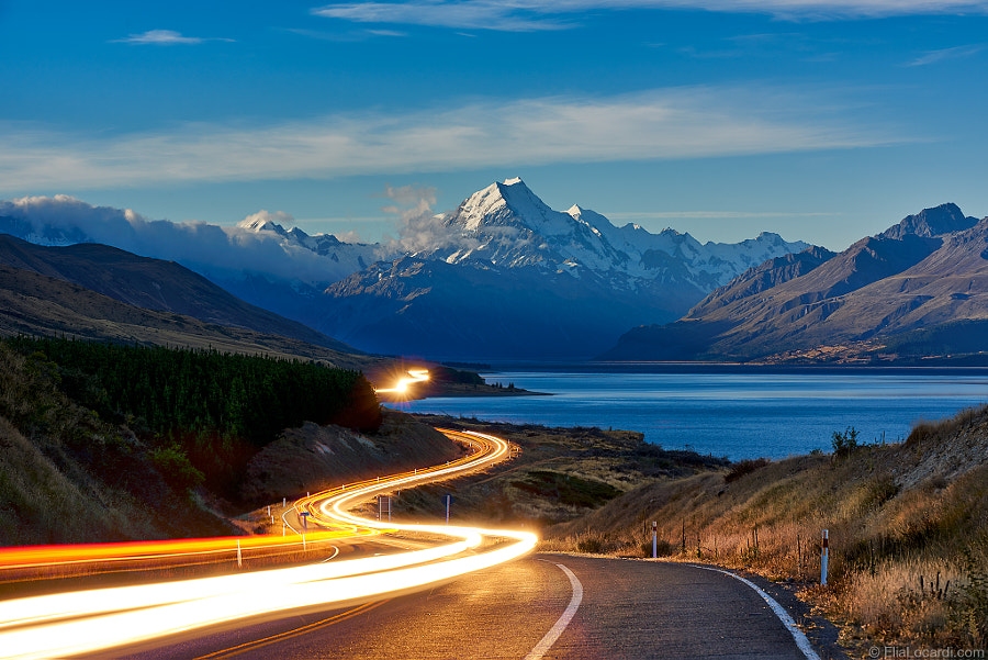 The Road to Mt. Cook by Elia Locardi on 500px.com