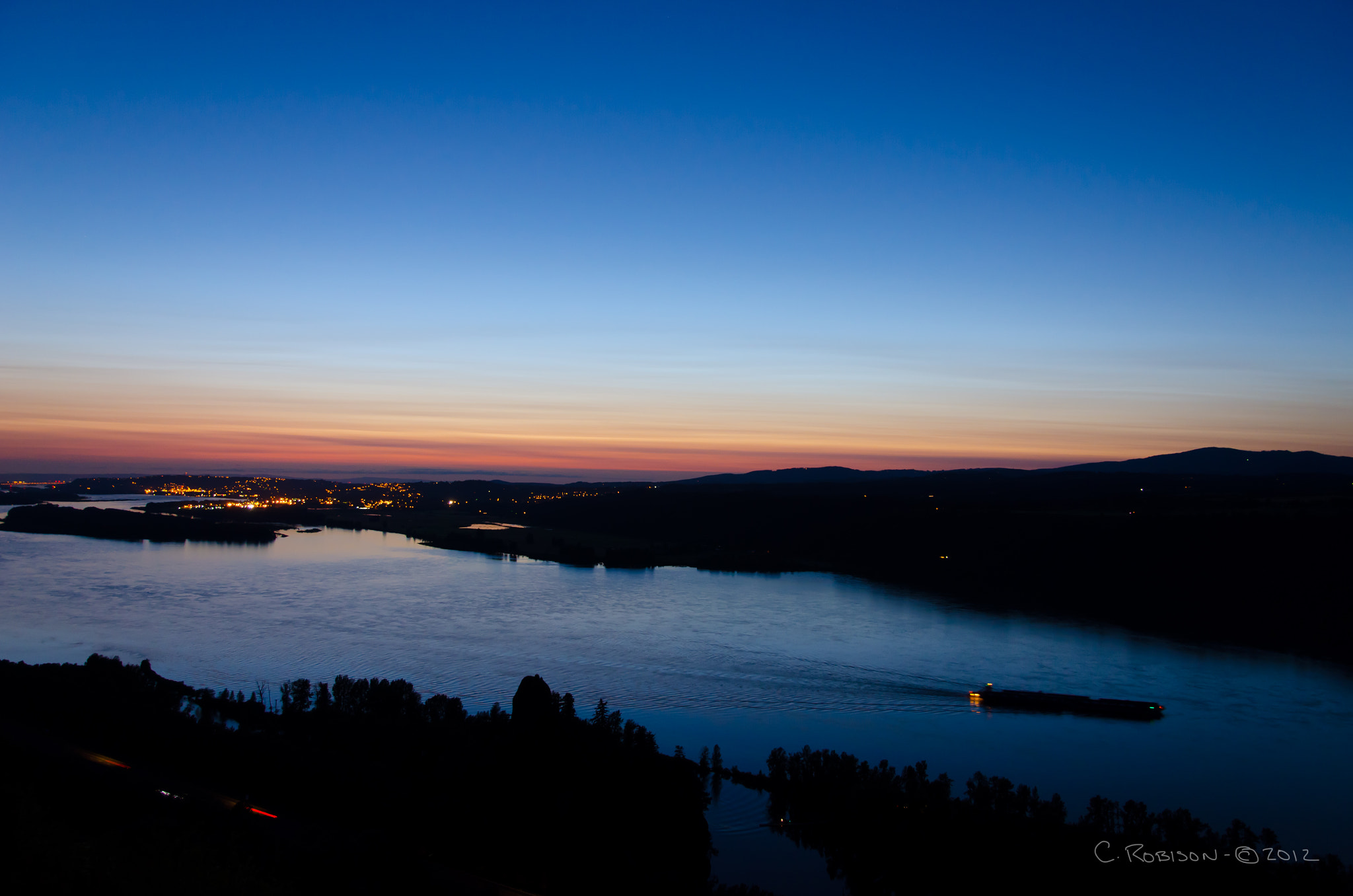 Photograph The Columbia at Dusk by Chris Robison on 500px