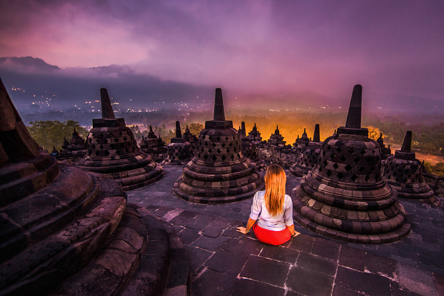 Borobudur before sunrise by Andrey Orlov on 500px.com