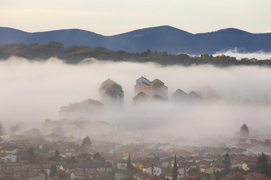 City Buildings Fog by Jure Batagelj on 500px.com