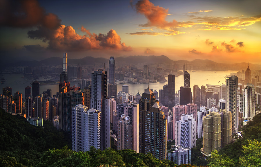 Sunrise over Hong kong by Paul Hogwood on 500px.com