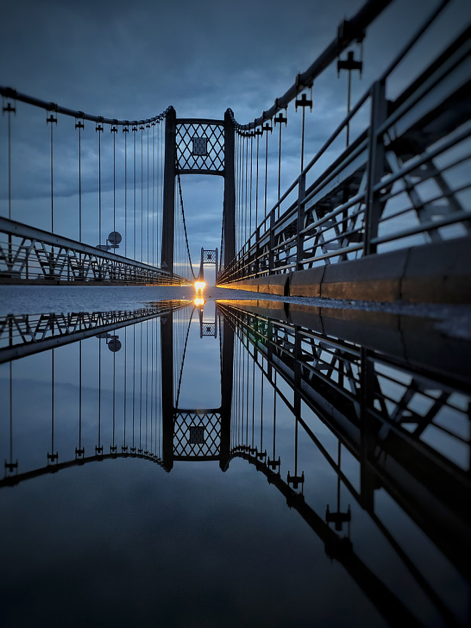 Blue Reflection Bridge  by Renaud Peu Photography  on 500px.com