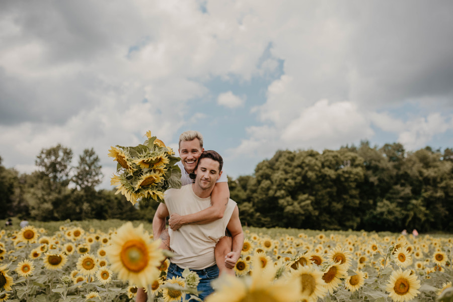 Couple in Sunflower Field by Kyle Kuhlman on 500px.com