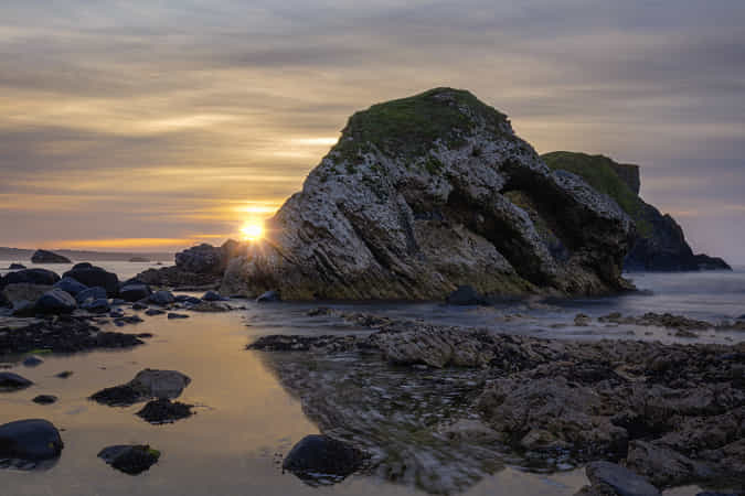 Ballintoy Sunset by Barrie Lathwell 2