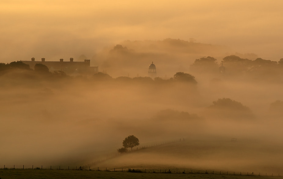 Photograph Glynde Place on a misty morning. by Adrian Backshall on 500px
