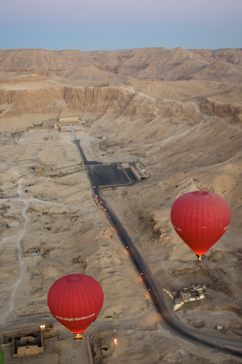 Photograph Balloons and the Temple of Hatshetsup by Taj Deluria on 500px