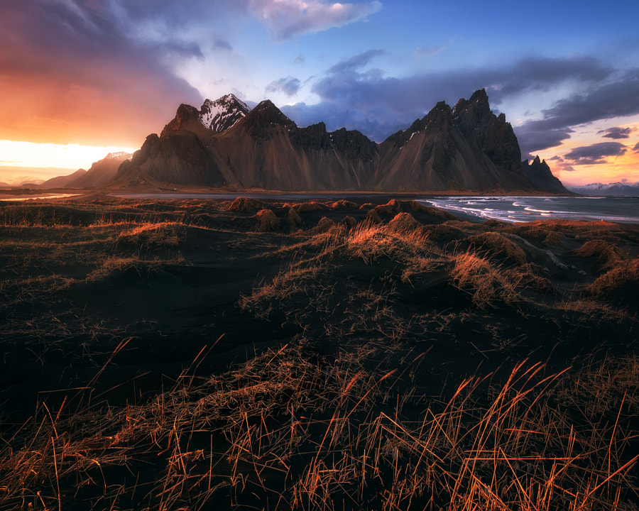 Iceland-Stokksnes-Stormy-Sunset by Daniel Gastager on 500px.com