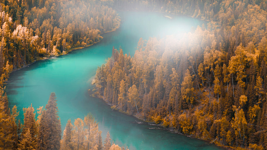秋意月亮湾 Autumn in Moon Bay by Anthony Huang  on 500px.com