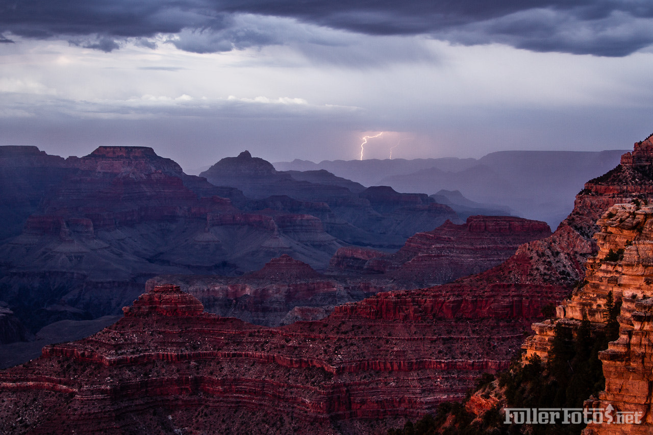 Photograph Lightning over the south rim by Tom Fuller on 500px