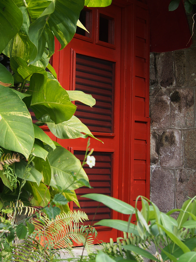 Photograph Red Door at the Golden Rock Inn by Nancy Lundebjerg on 500px