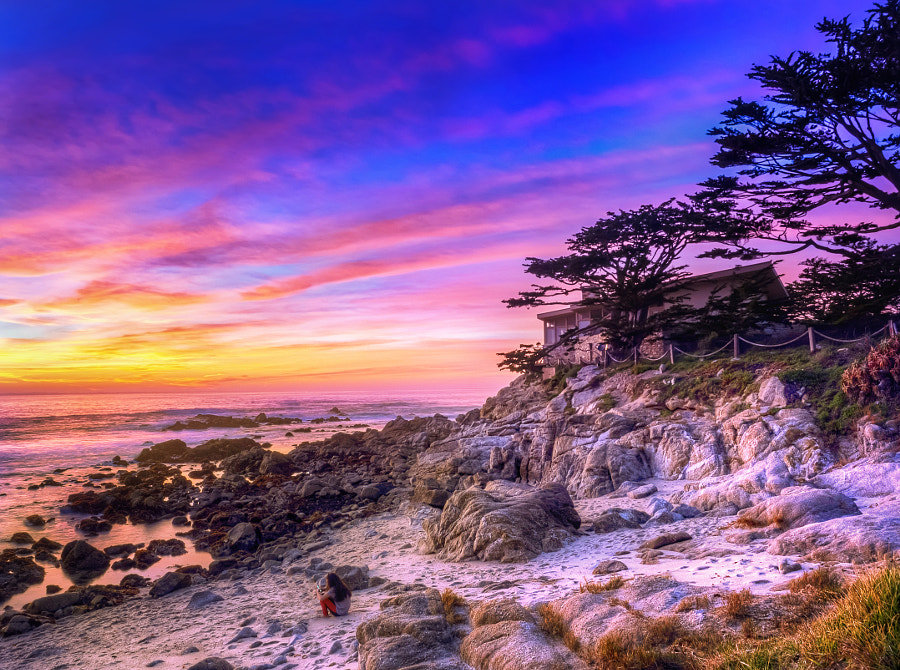 Photograph Carmel Sunset (Girl on Beach) by MacesPlaces on 500px