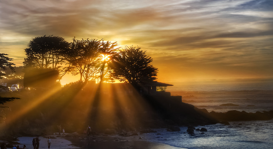 Photograph Carmel Sunset (Sun Rays) by MacesPlaces on 500px
