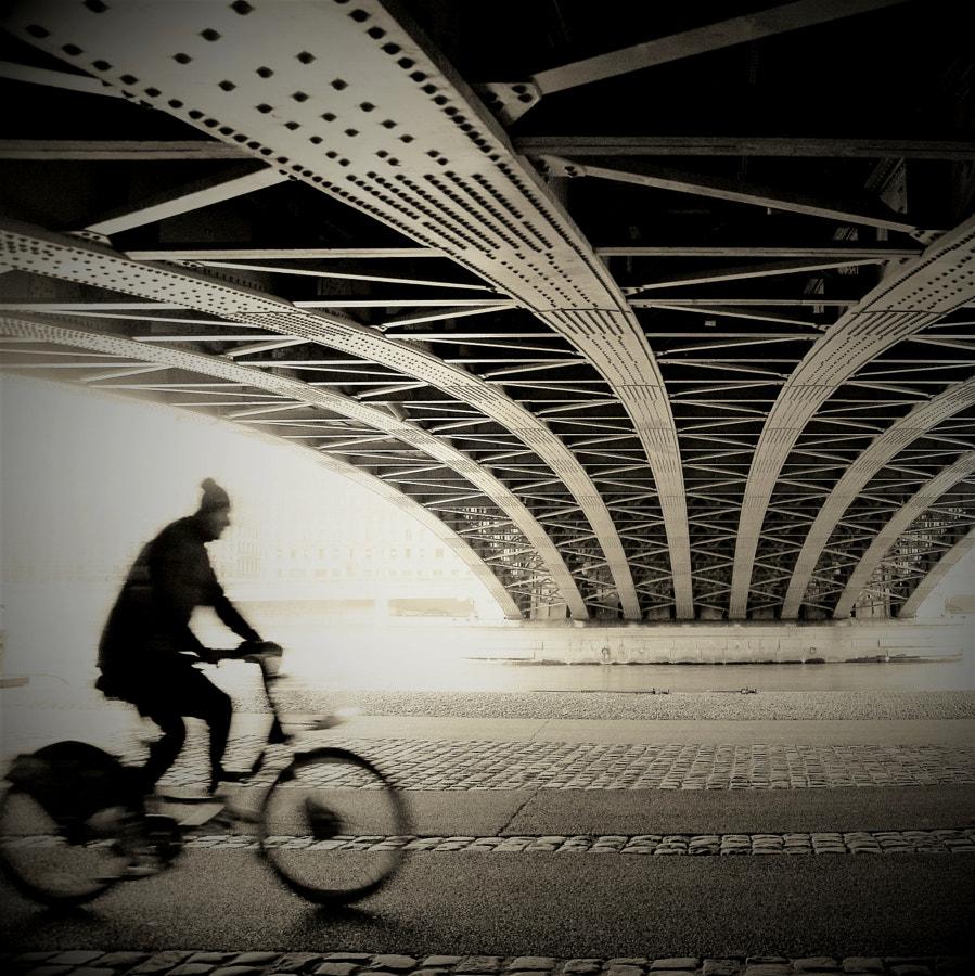 distorted cyclist under the bridge by abracadabra15 on 500px.com