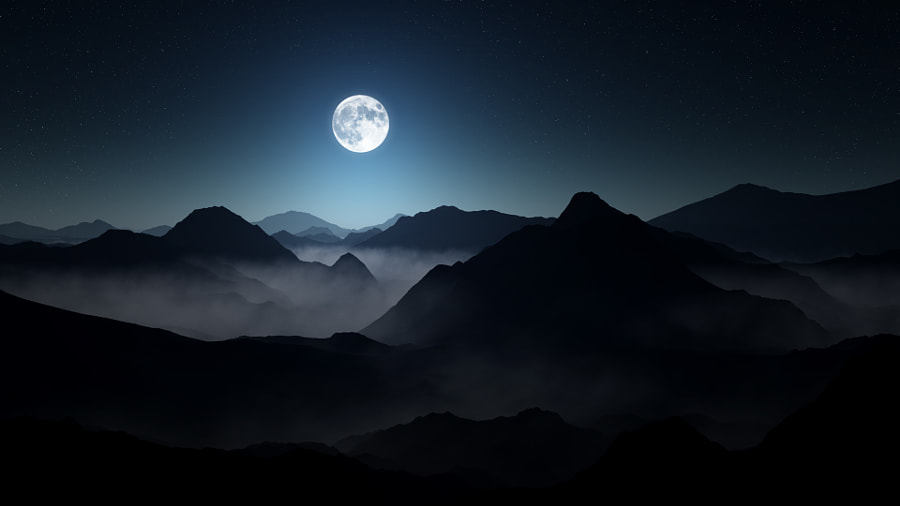 25 Photographs of the Moon with Peace and Tranquility