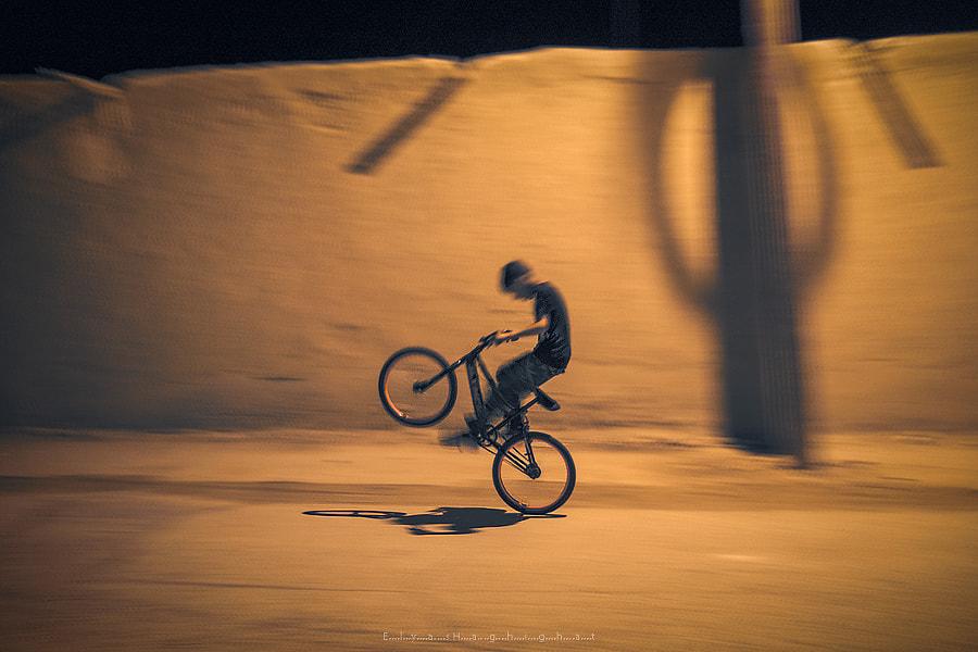 night cyclist by Elias Haghighat on 500px.com