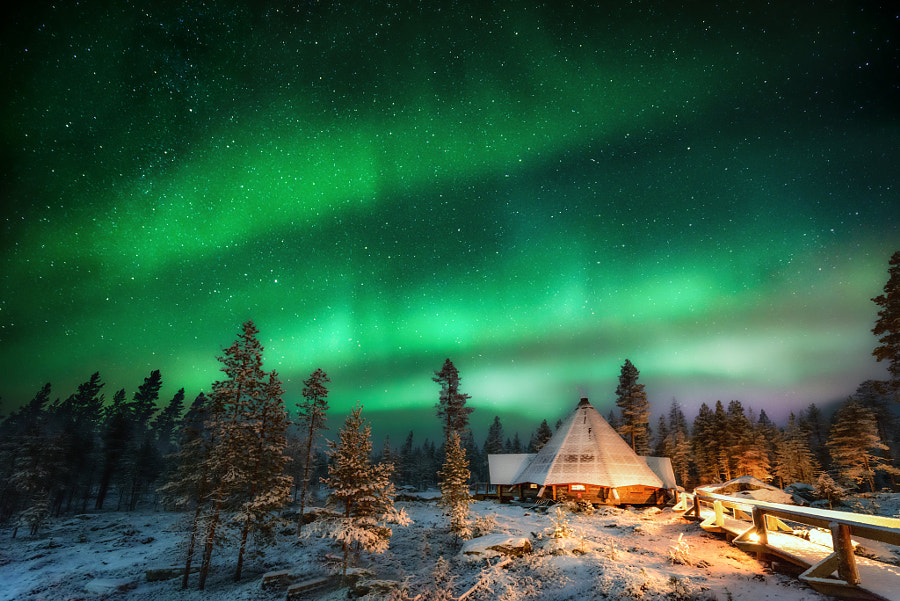 北极光,一抹便是一世 Aurora in Finland by Miao_Memory on 500px.com