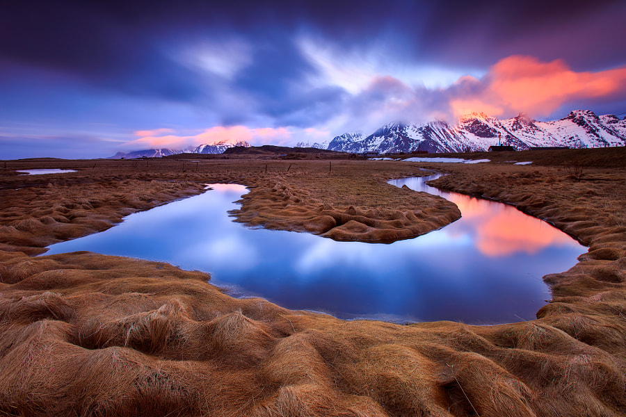 Sunset in Lofoten by Sven Broeckx on 500px.com