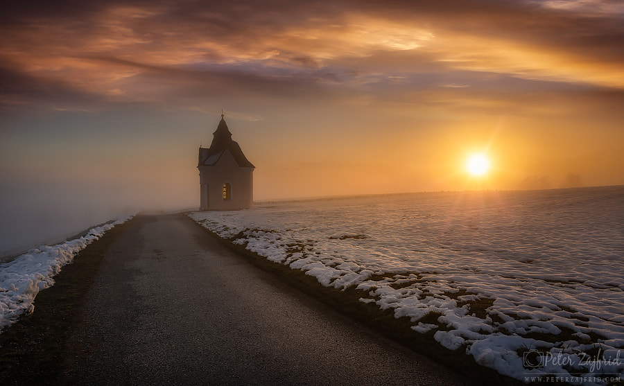 Winter sunset  by Peter Zajfrid on 500px.com