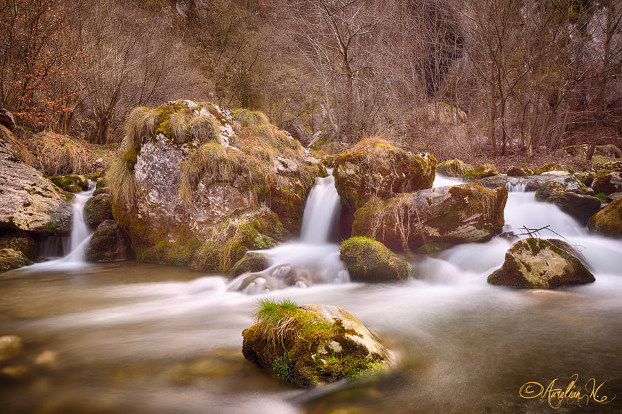 Long exposure water flowing