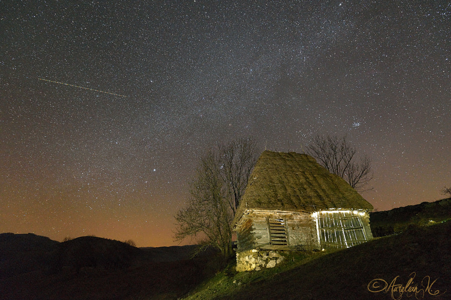 An old barn and the galaxy
