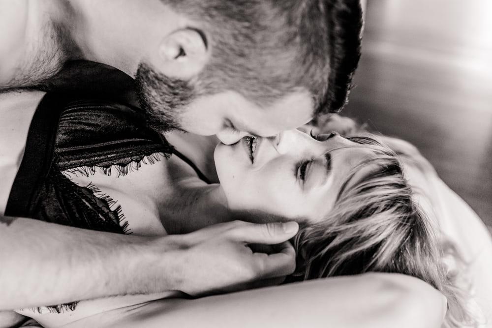Durham couples boudoir session